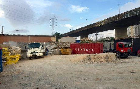 Aluguel de caçambas estacionárias - central reciclagem