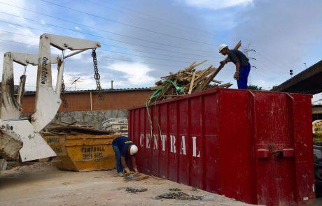 Aluguel de caçamba roll on - central reciclagem